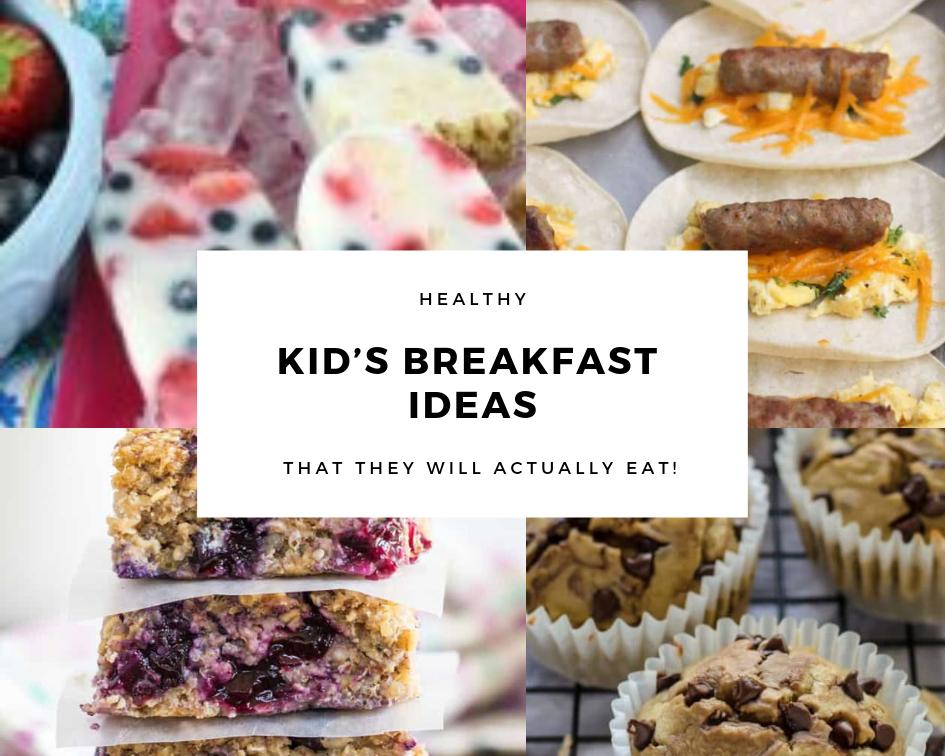 Kid's Breakfast Ideas Graphic